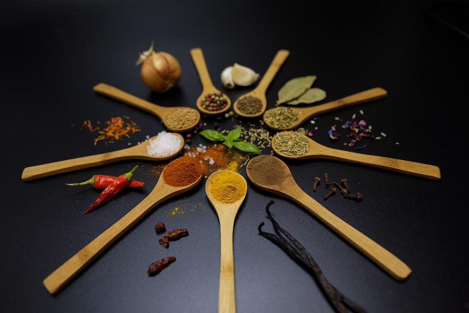 Spices, Cook, Season, Ingredients, Kitchen, Spoon