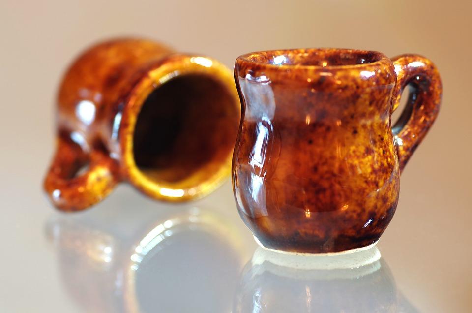 Ceramics, Cups, Kitchen Utensils, Clay, Empty, Brown