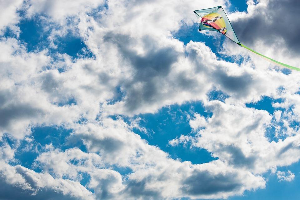 Kite, Sky, Wind, Summer, Blue, Colors, America