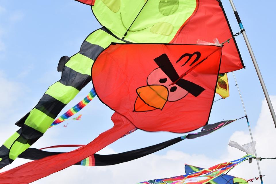 Flag, Sport, Fun, Color, Wind, Kite, Sky, Blue, Summer