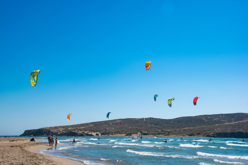 Rhodes, Sea, Kite, Window, Water, Coast, Island, Greece
