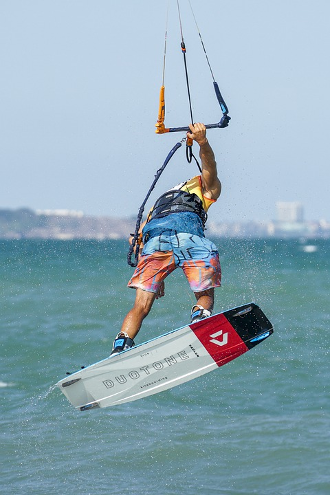 Kitesurfing, Water Sport, Sea, Kiteboarding, Water