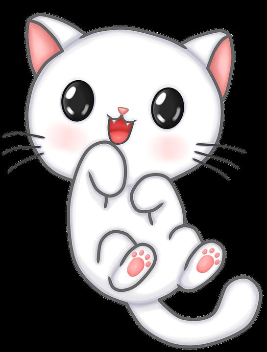 Cat, Feline, Kitten, Happy, Animal, Tender, Pet, Kawaii