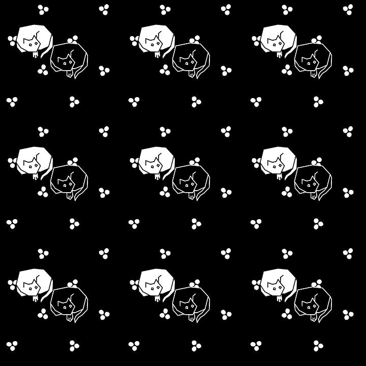 Cats, Kittens, Pattern, Animals, Design, Wallpaper