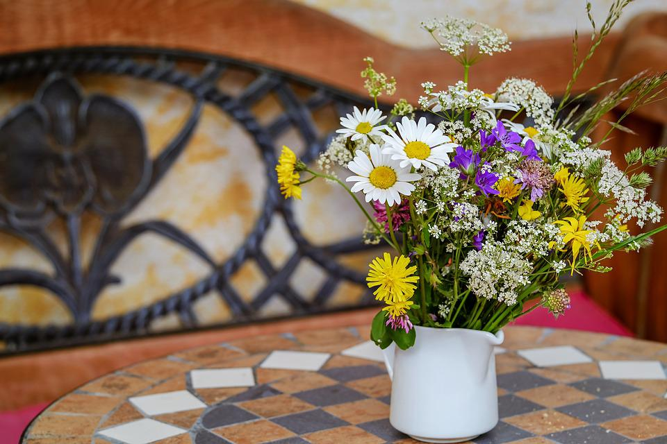 Wildflowers, Bouquet, Dreamy, Flowers, Daisies, Klee