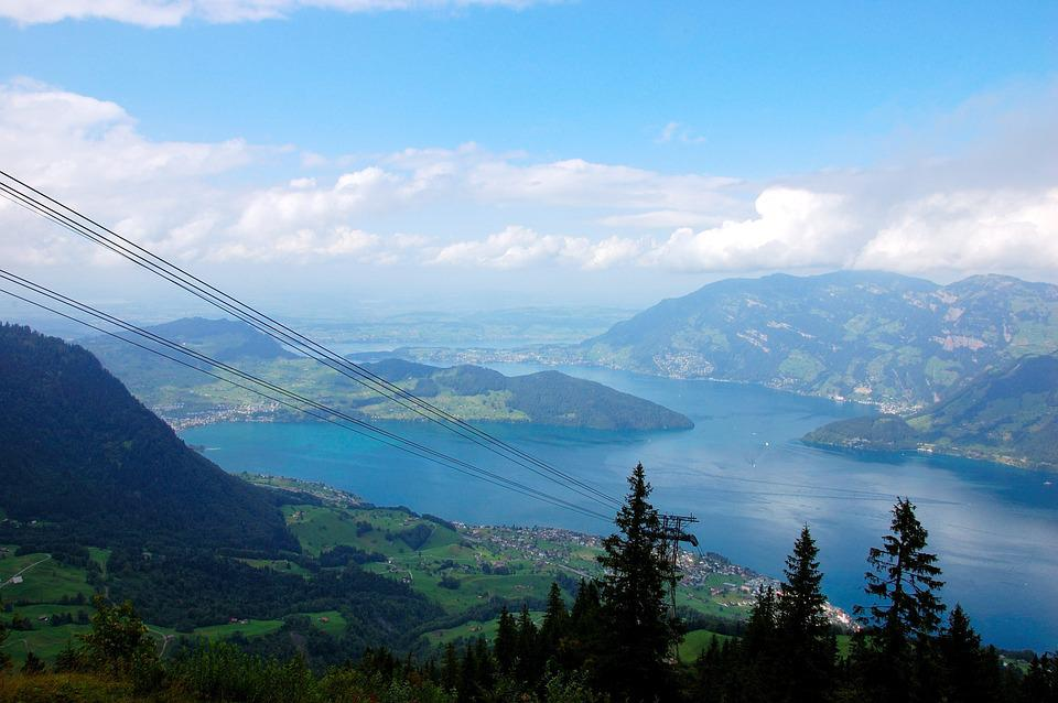 Klewenalp, Lake Lucerne Region, Lake, Mountains, Clouds