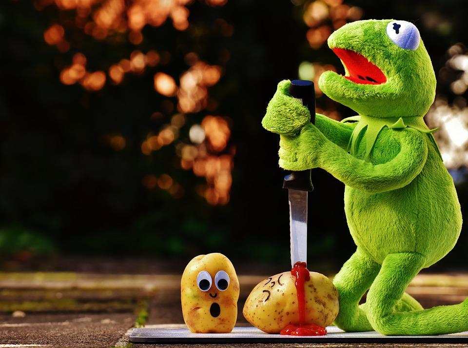 Free photo Knife Ketchup Blood Kermit Funny Potatoes Murder - Max ...
