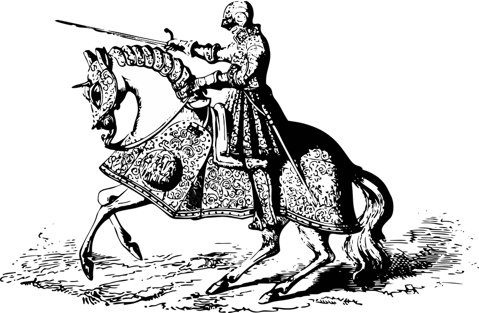 Knight, Medieval, Armor, Warrior, Sword, Weapon, Helmet