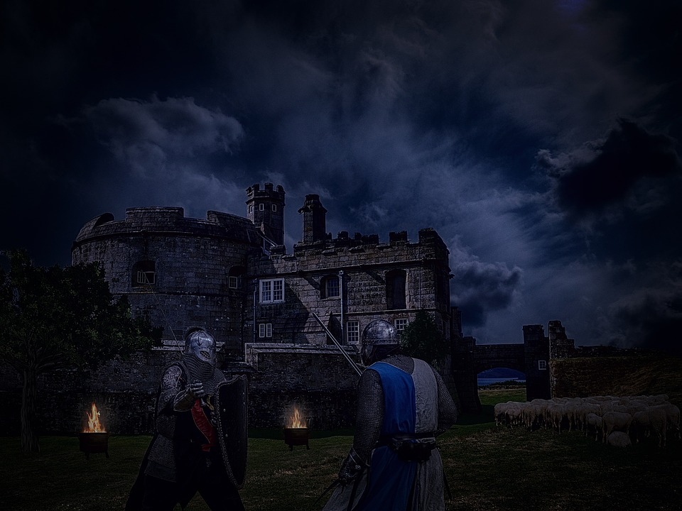 Castle, Middle Ages, Knight, Night