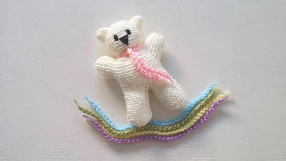 Free Photo Knit Yarn Pattern Teddy Bear Knitting Wool Max Pixel
