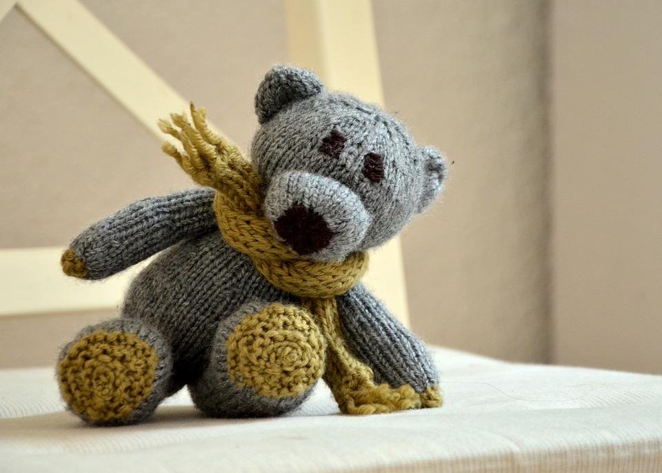 Teddy Bear, Knitted, Wool, Bear, Friendly, Cute