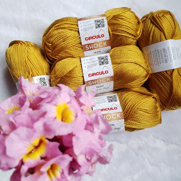 Knitting, Flowers, Yarn, Handmade, Wool, Text, Textile