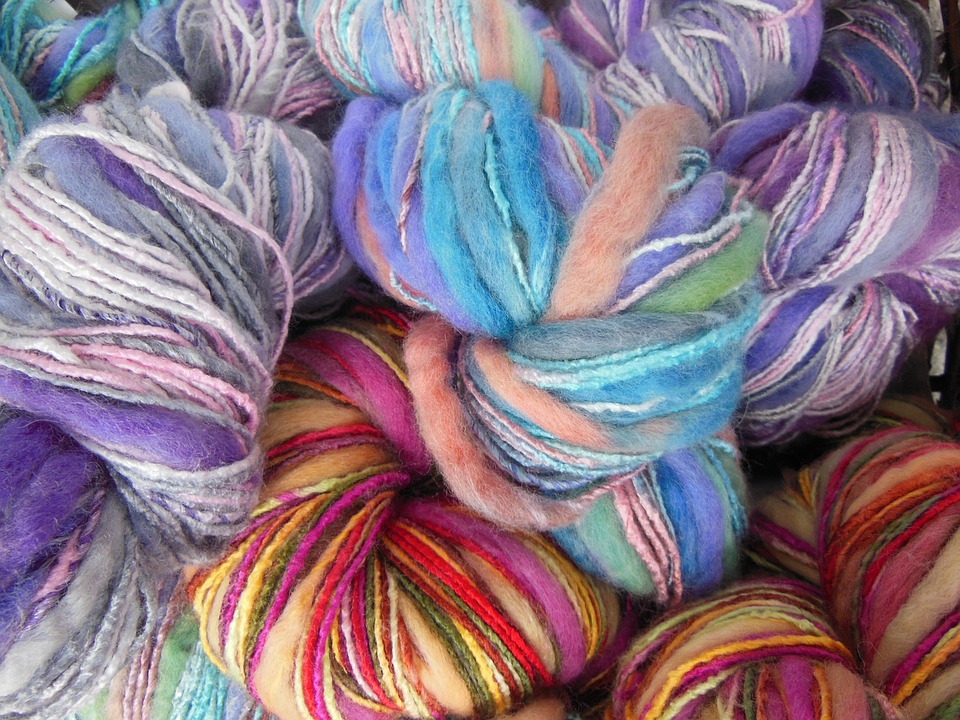 Yarn, Colored, Multi-colored, Knitting, Needlework