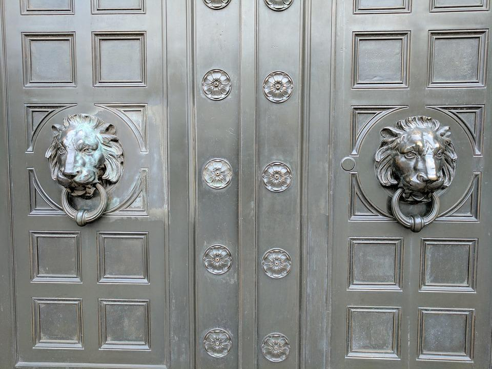 Doors Bronze Knockers Door Knockers Lions Metal : bronze doors - pezcame.com