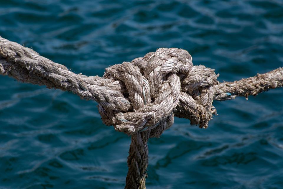 Free photo Knot Marine Cord Nautical Boat Mooring Rope Sea