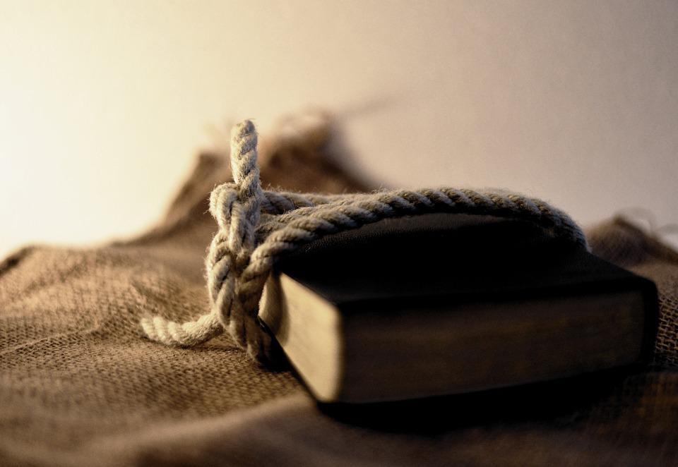 Rope, Knot, Book, Bible, Knotted, Connection, Knitting