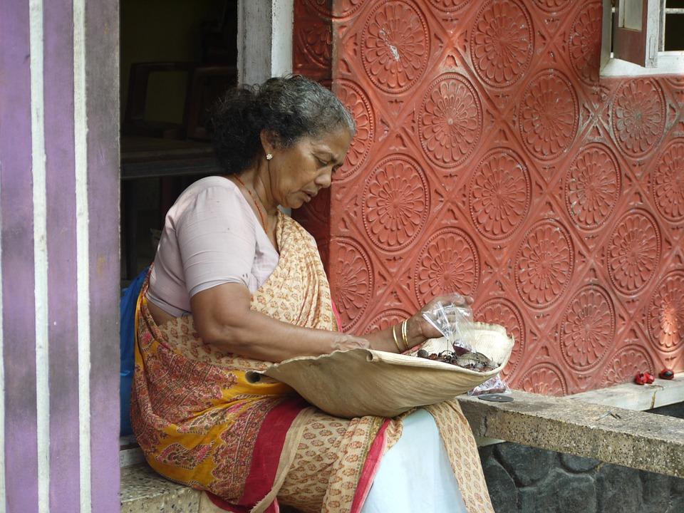 Woman, Old, Indian, India, Kerala, Cochin, Kochi