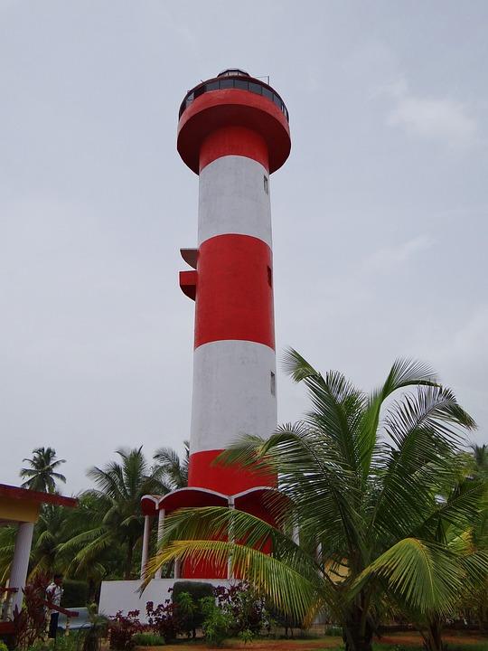 Kodi Beach, Light House, Kundapura, Arabian Sea