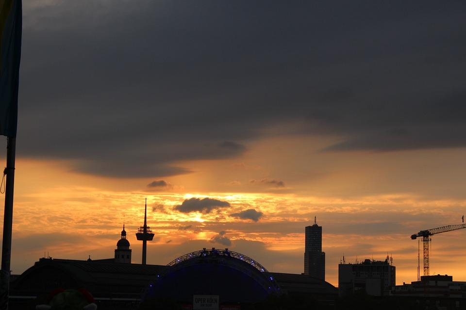 Köln, Cologne, Sonnenuntergang, Europe, Germany, Sunset
