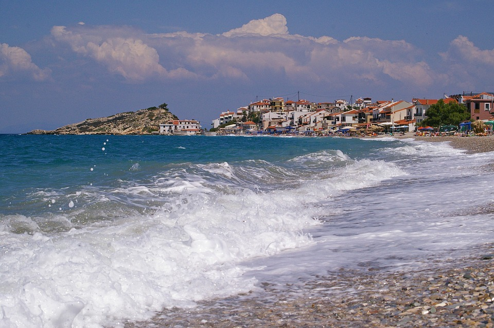 Wave, Samos, Kokkári, Surf, Summer, Sun, Holiday, Beach