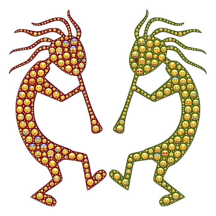 Kokopelli, Faces, Expressions, Emotions, Emoticons