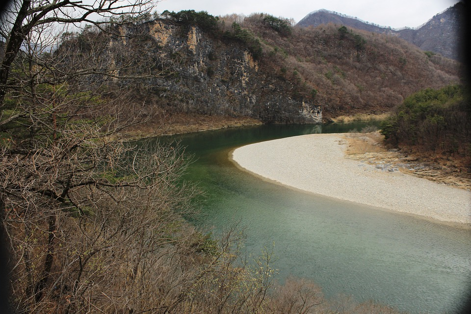 Korea, Dong River, Dong-kang, Landscape, Wilderness