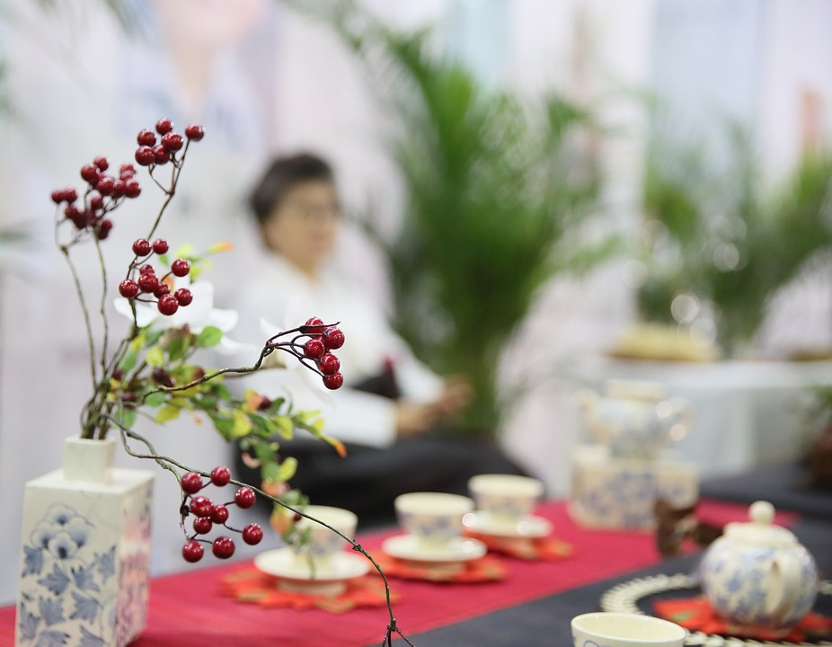 Decoration, Korea, Flower Arrangement, Tea