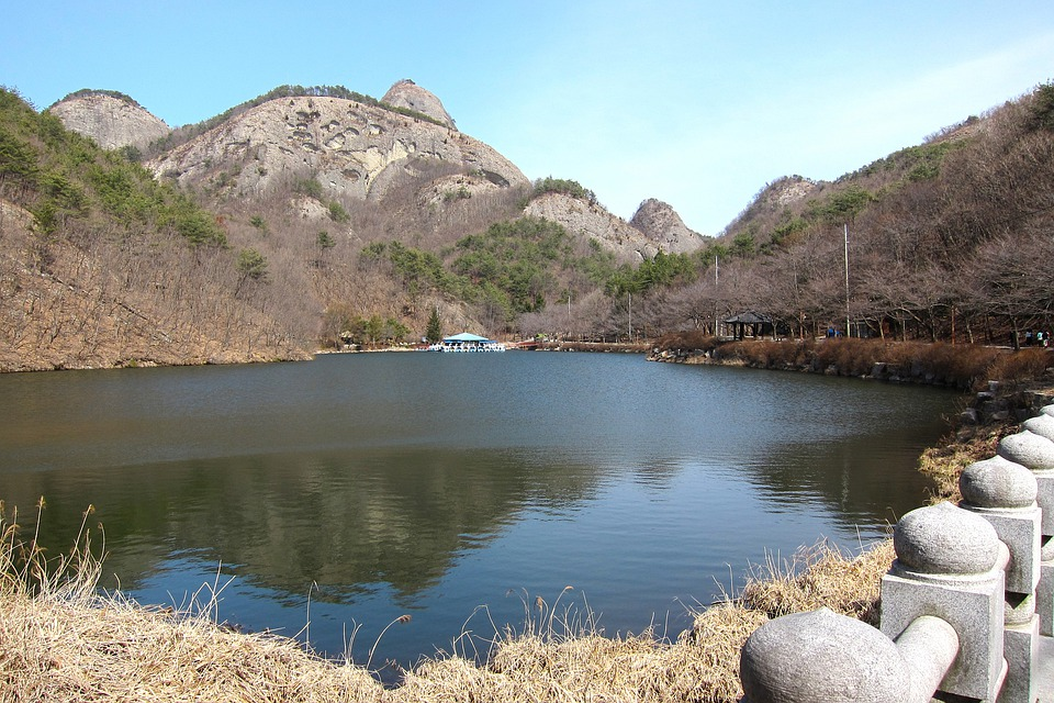 Korea, Mountain, Scenery, Lake, Landscape, Natural