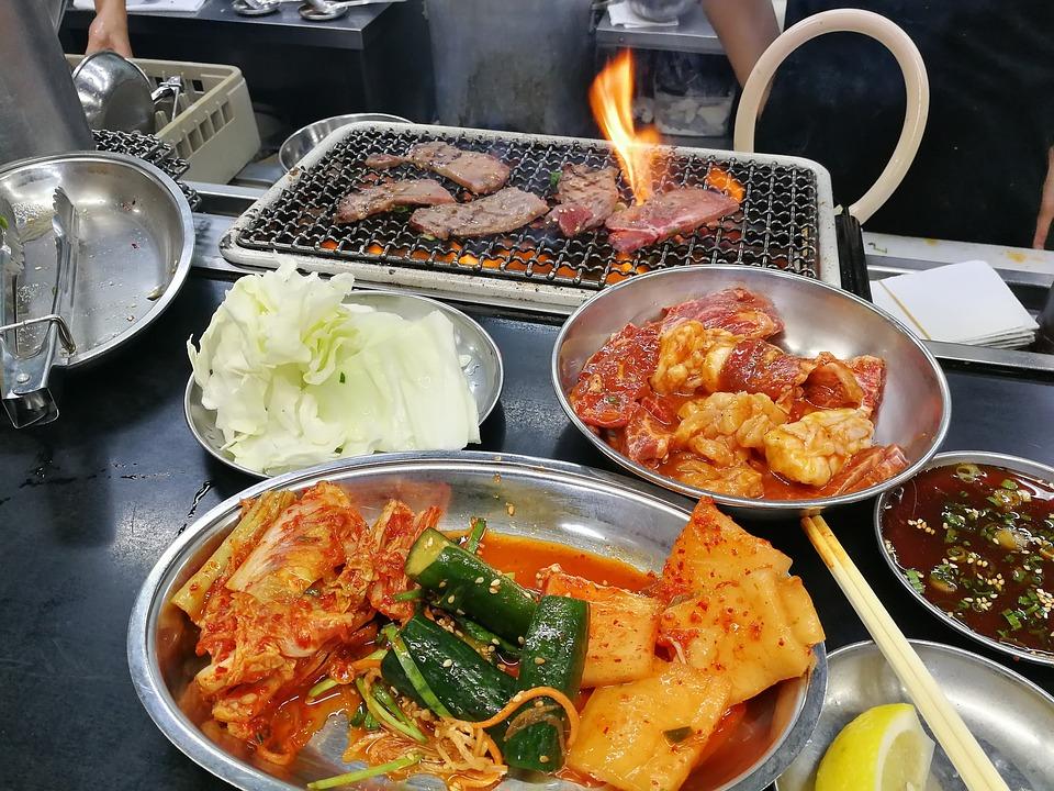 Bbq, Korean, Meat, Kimchee