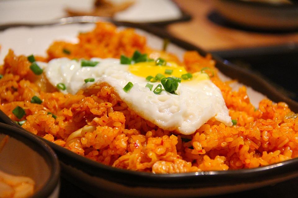 Kimchi Fried Rice, Fried Rice, Rice, Korean, Fried Egg