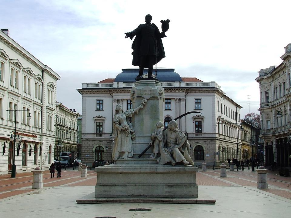 Szeged Hungary, Statue, Kossuth, 1848