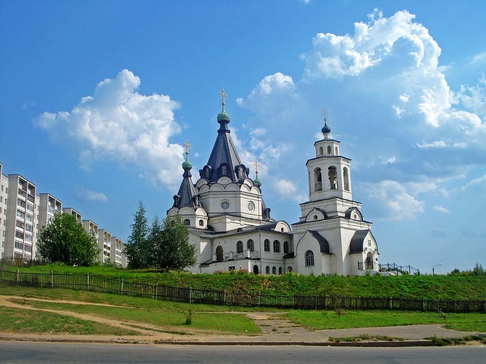 Temple, Kostroma, Russia, Religion, Architecture, Sky