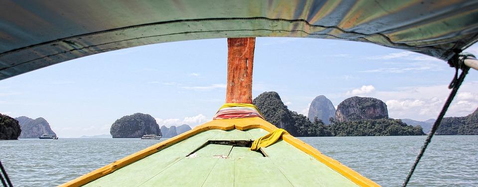 Thailand, Krabi, Long Boat, Boot, Skyline, Ship, Sea
