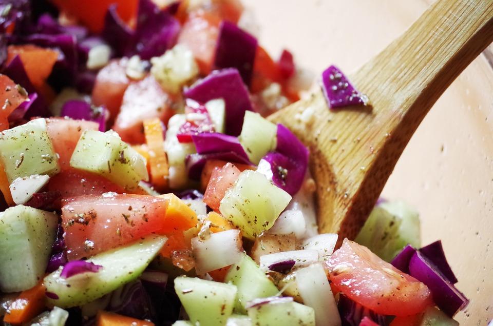 Vegetables, Salad, Krájaná, Healthy Food, Breakfast