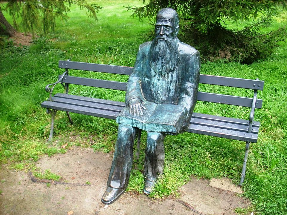 Writer, The Museum, Kraszewski, Bench, Literature