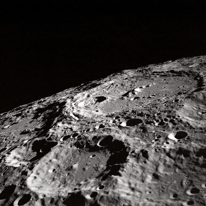 Moon, Moon Craters, Crater, Kraterandschaft