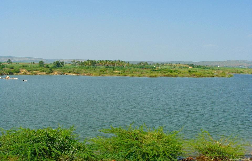 Krishna River, Backwaters, Bagalkot, Karnataka, India