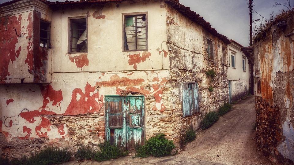 Street, Greece, Old House, Old Town, Krot, Old Door
