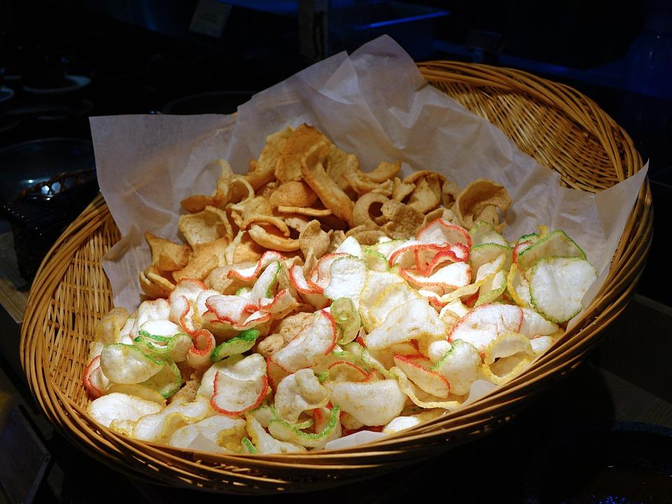Krupuk, Deep Fried, Crackers, Keropok, Kerupuk, Fish