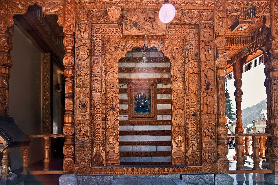 Kullu, India, Travel, Asia, Wood, Carving, Altar
