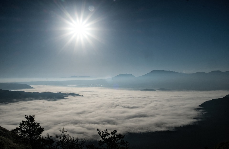 Japan, Kumamoto, Aso, Sea Of clouds, Somma
