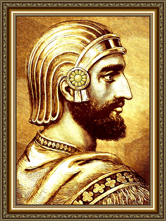 Cyrus The Great, Conqueror, Portrait, Kurushi Kabir