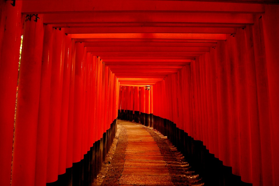 Any Person Not, Stage, Wood, Building, Kyoto, Torii