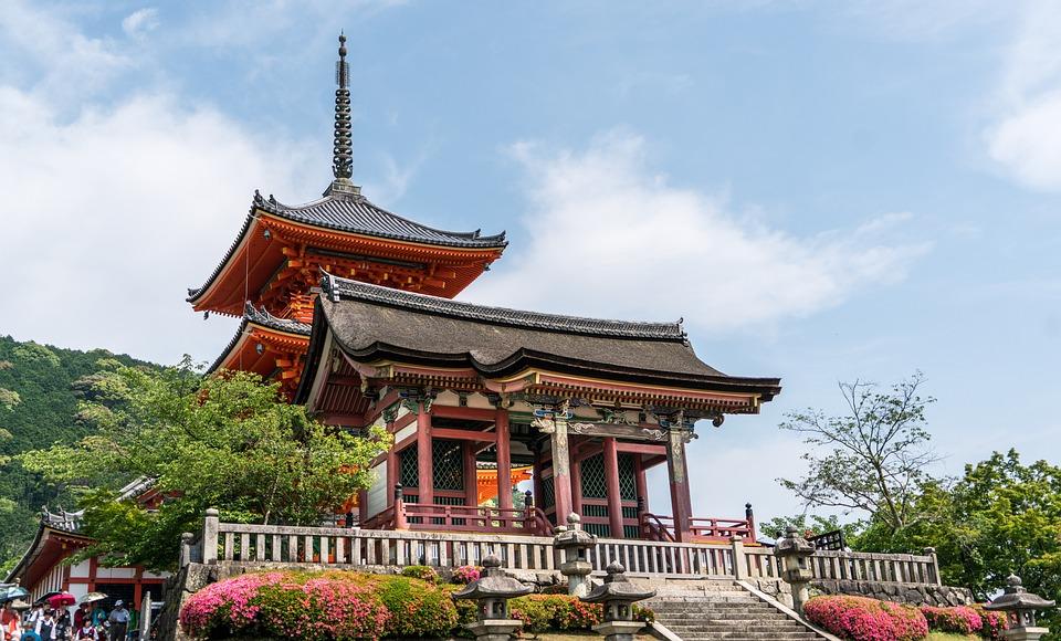 Kyoto, Japan, Kiyomizu Temple, Asia, Japanese, Landmark