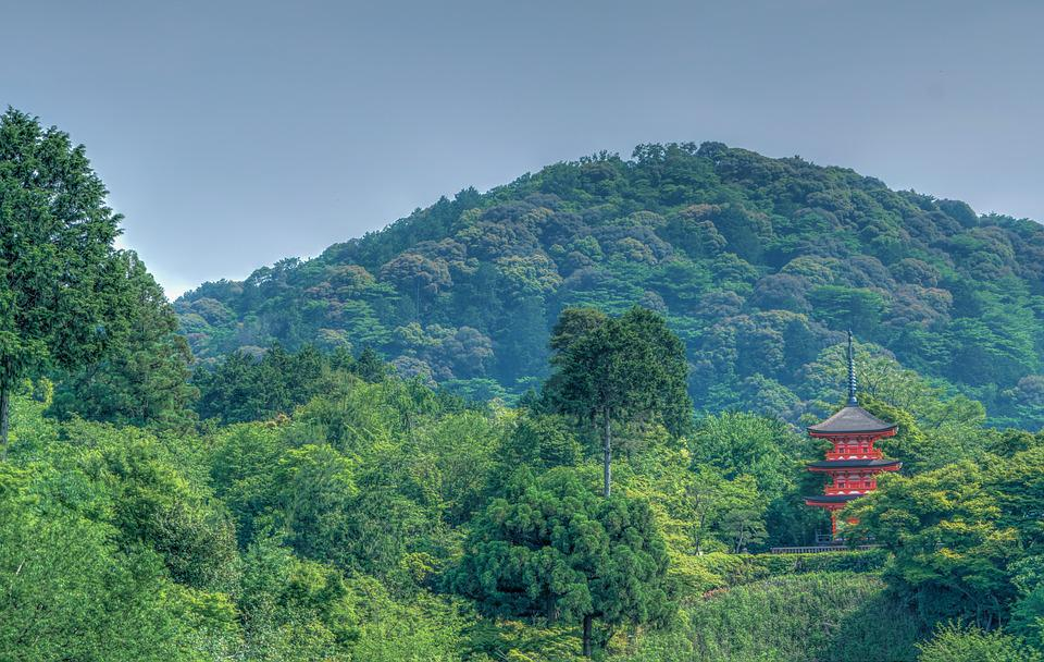 Kyoto, Japan, Mountains, Landscape, Kiyomizu Temple