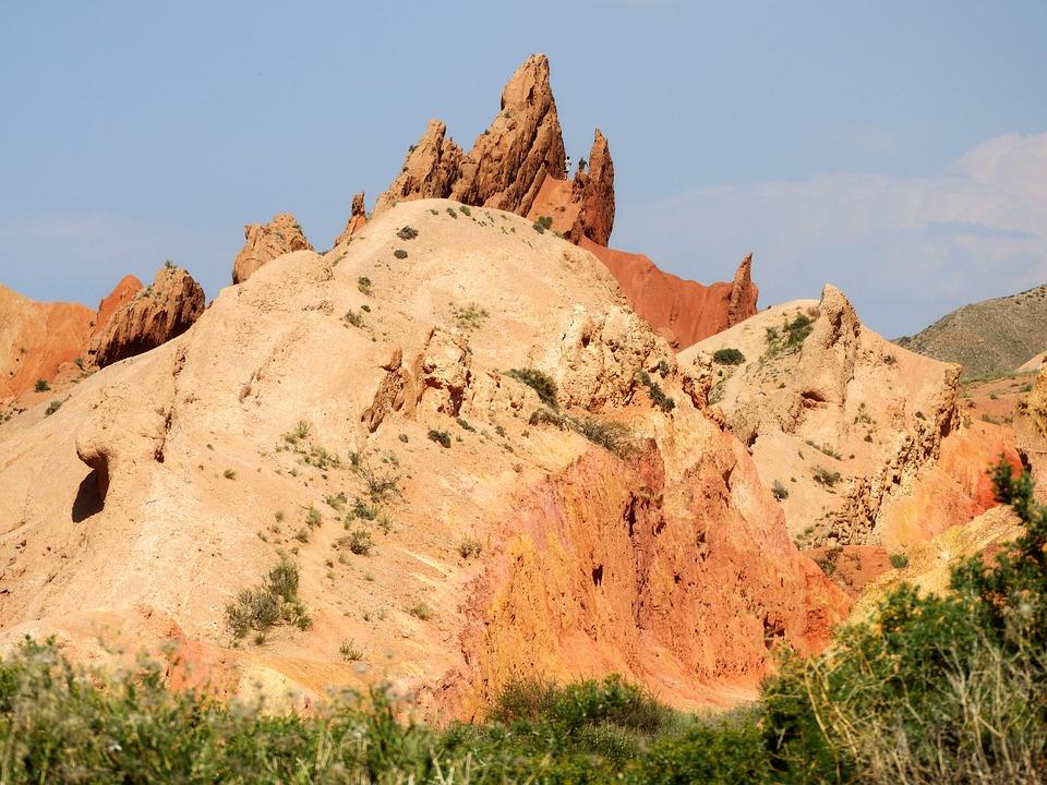 Canyon Tale, Kyrgyzstan, Clay Mountain, Red Clay