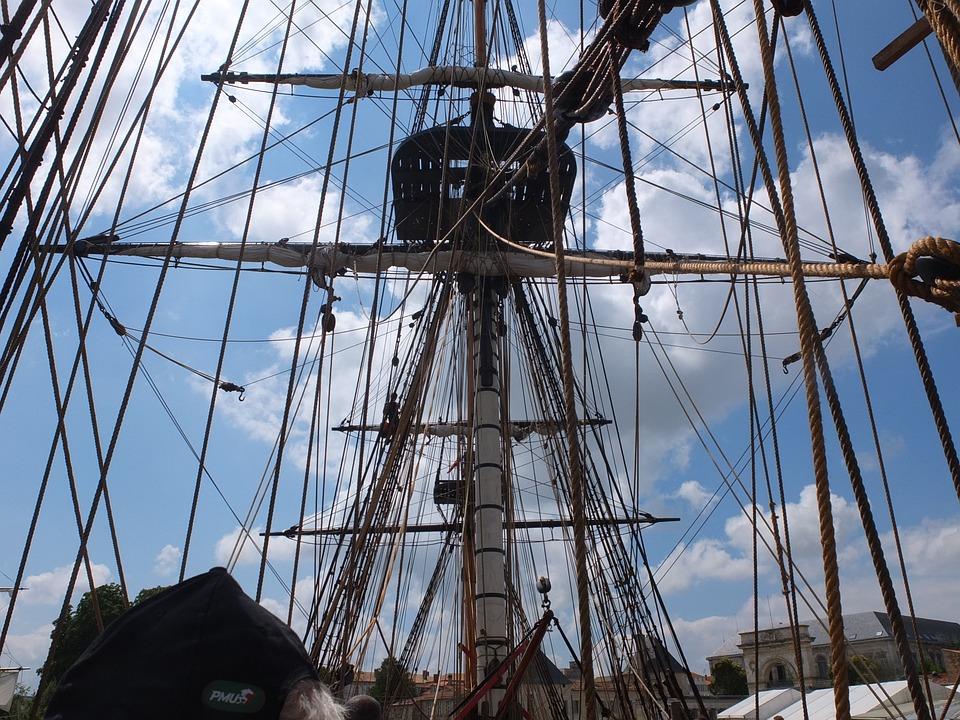 La Fayette, Frigate Hermione, Sailing Boat, Old Rig