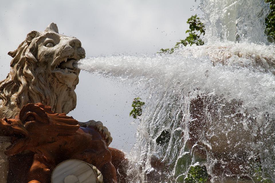 Spain, Segovia, La Granja, The Fountains, Architecture