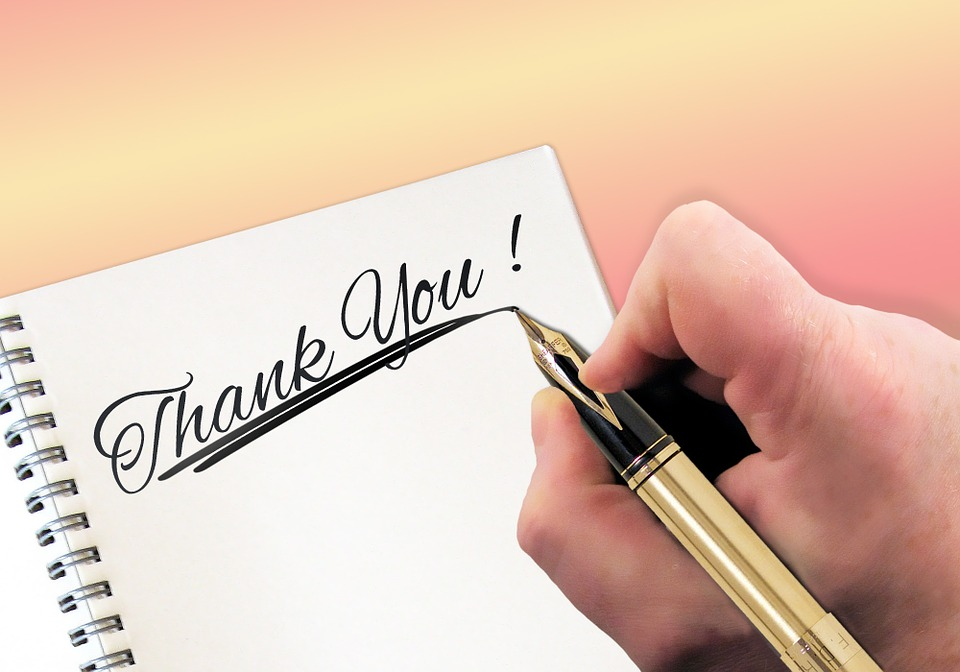 Thank You, Labels, Communication, Testimonial, Hand
