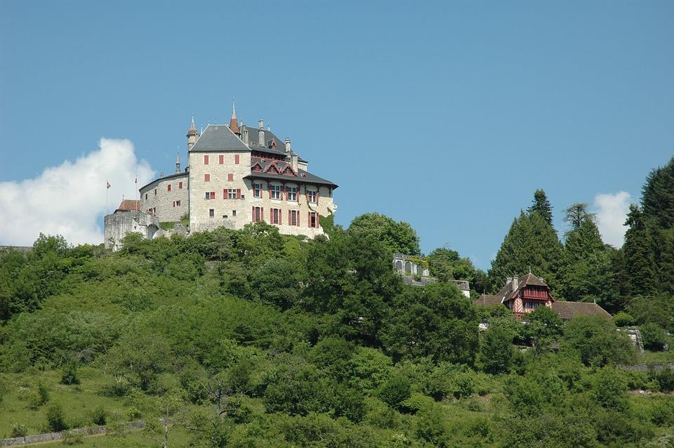 Lac D'annecy, Chateau De Menthon-saint-bernard